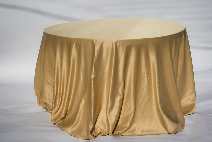 Soft Gold Satin Lamour Table cloth