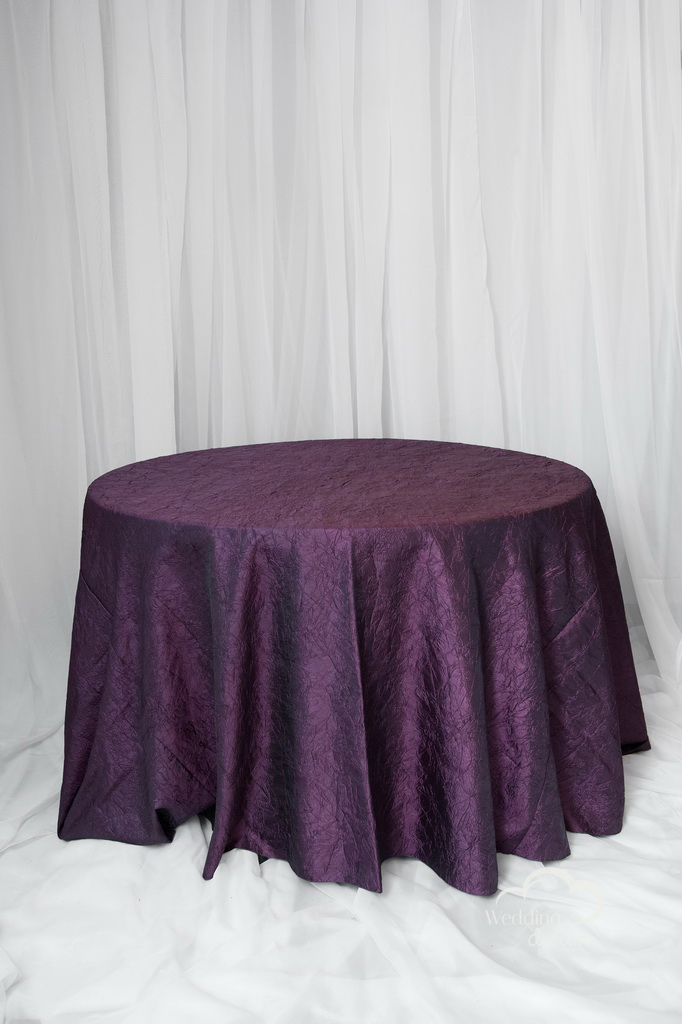 Aubergene Purple Crushed Table Cloth