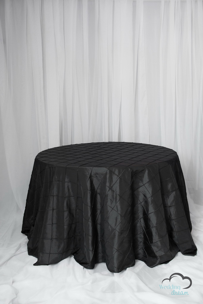 Black Pintuck Table Cloth