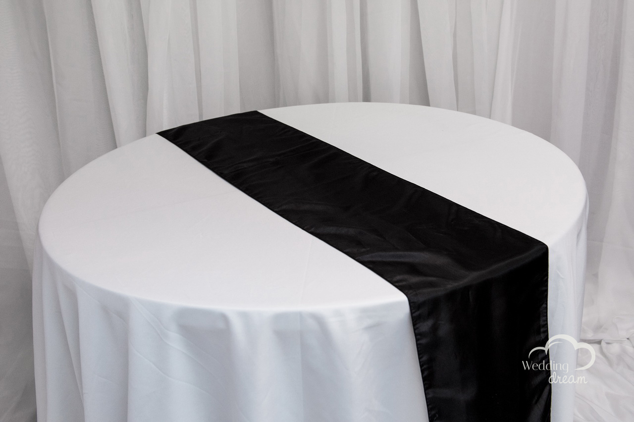 Black Taffeta Table Runner