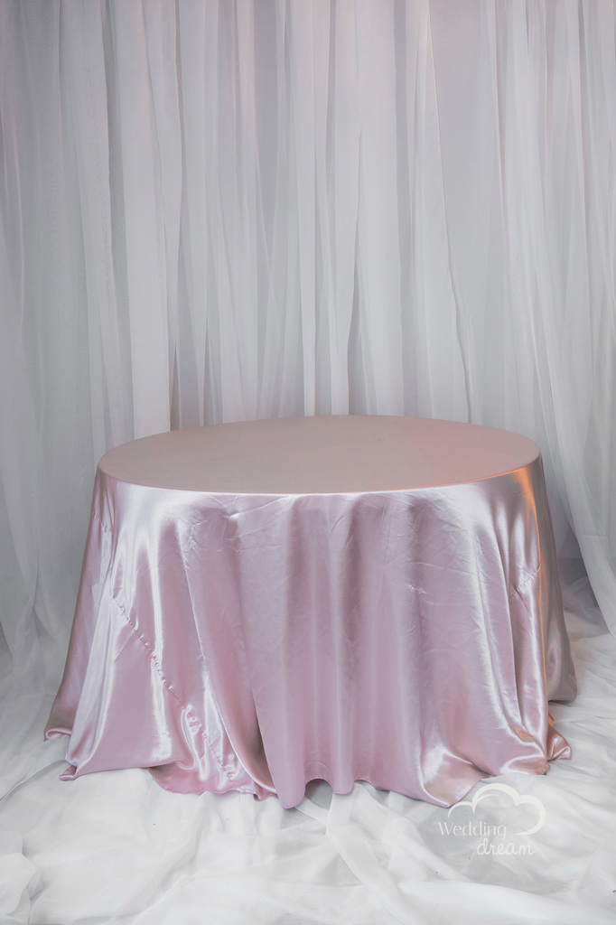 Blush Pink Satin Table Cloth