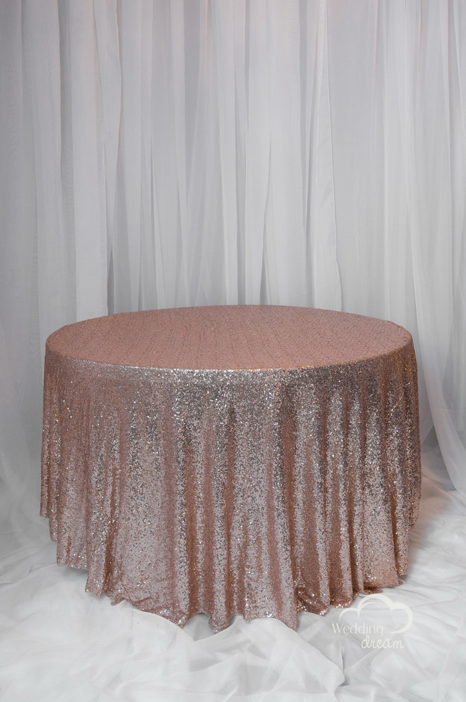 Blush Sequins Table Cloth