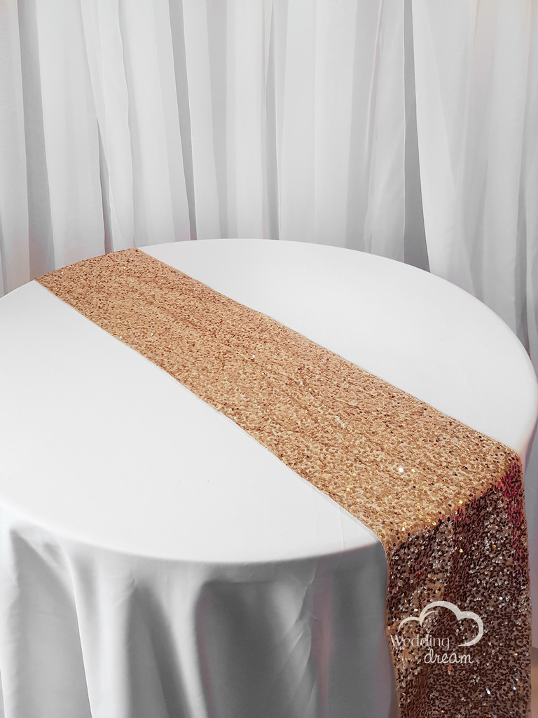 Champagne Sequins Table Runner