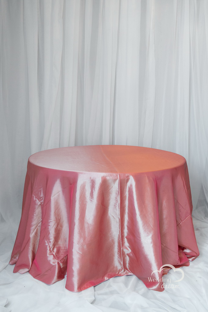 Coral Taffetta Table Cloth