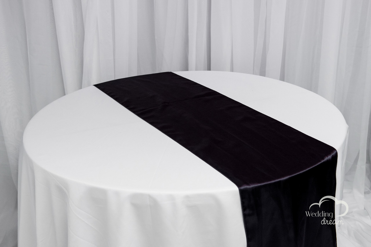 Eggplant Satin Table Runner