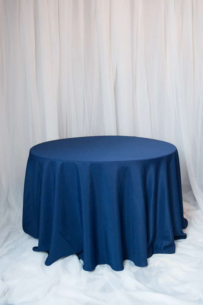 Navy Blue Polyester Table Cloth