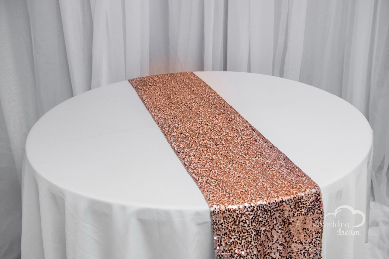 Rosegold Sequence Table Runner