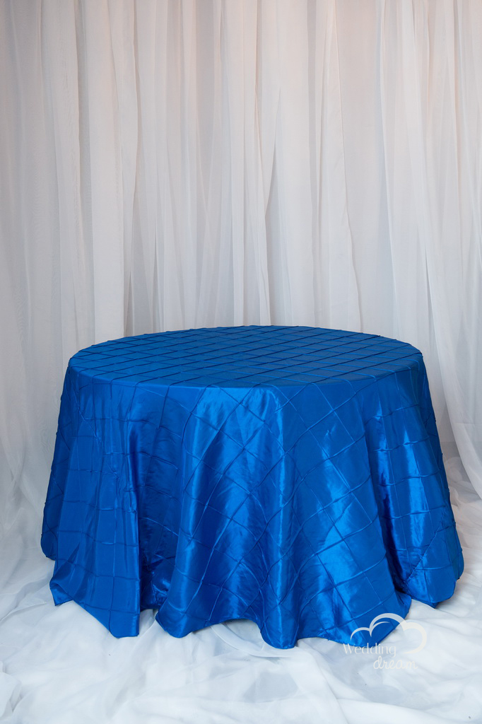 Royal Blue Pintuck Table Cloth