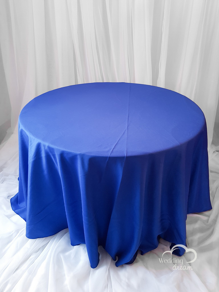 Royal Blue Polyester Table Cloth
