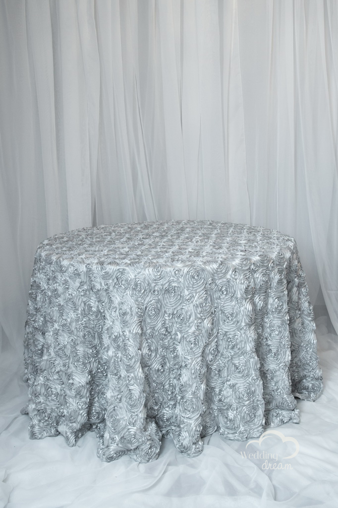 Silver Rosetta Table Cloth