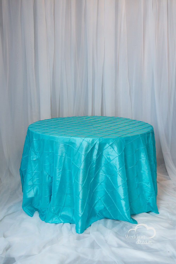 Tiffany Blue Pintuck Table Cloth