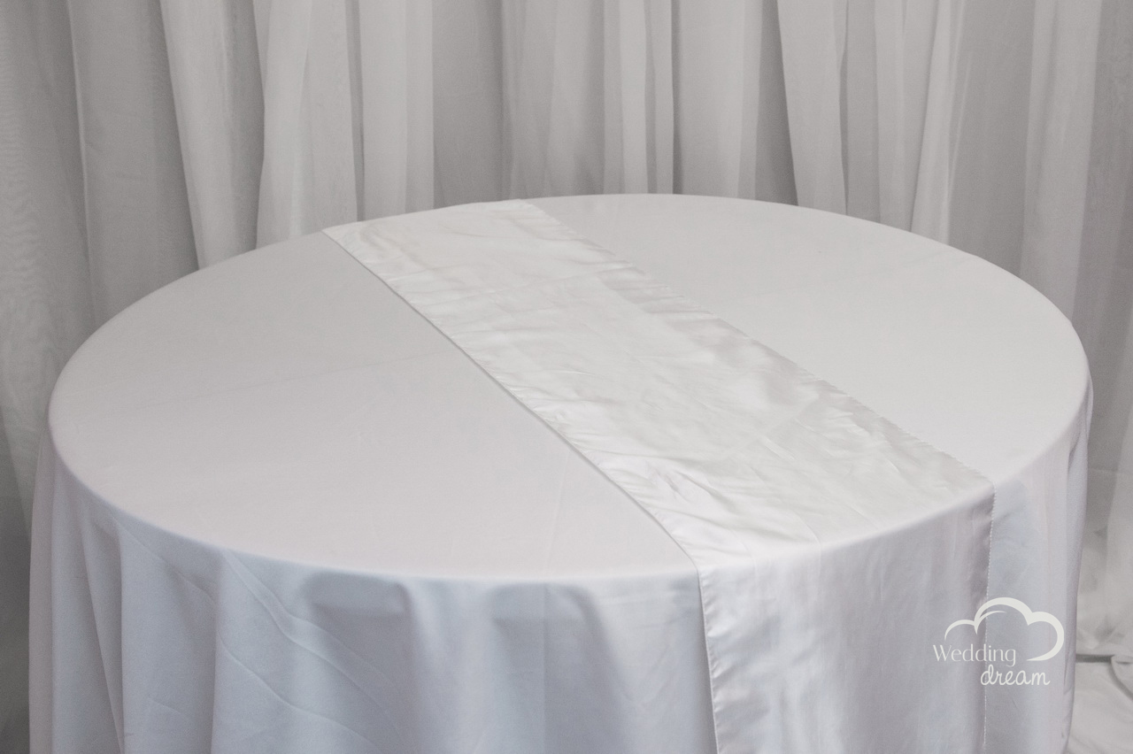 White Taffeta Table Runner