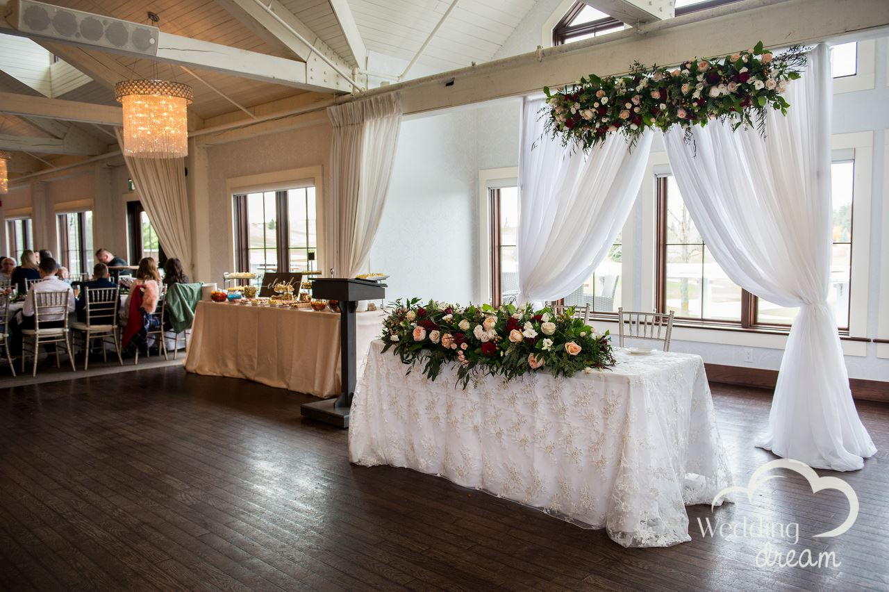 whistlebear golf club wedding decor kitchener cambridge flowers dream