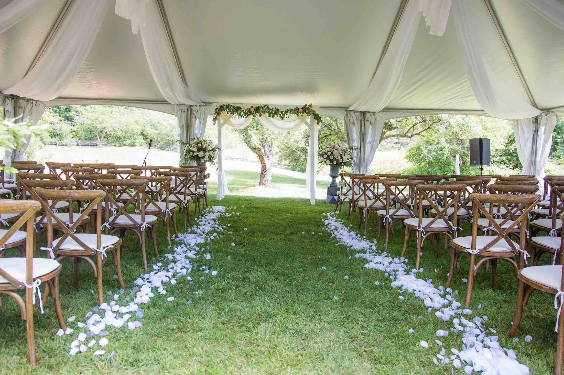 backyard wedding guelph wedding dream ceremony flowers