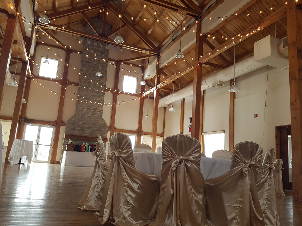 gray silo wedding decor gold chairs kitchener