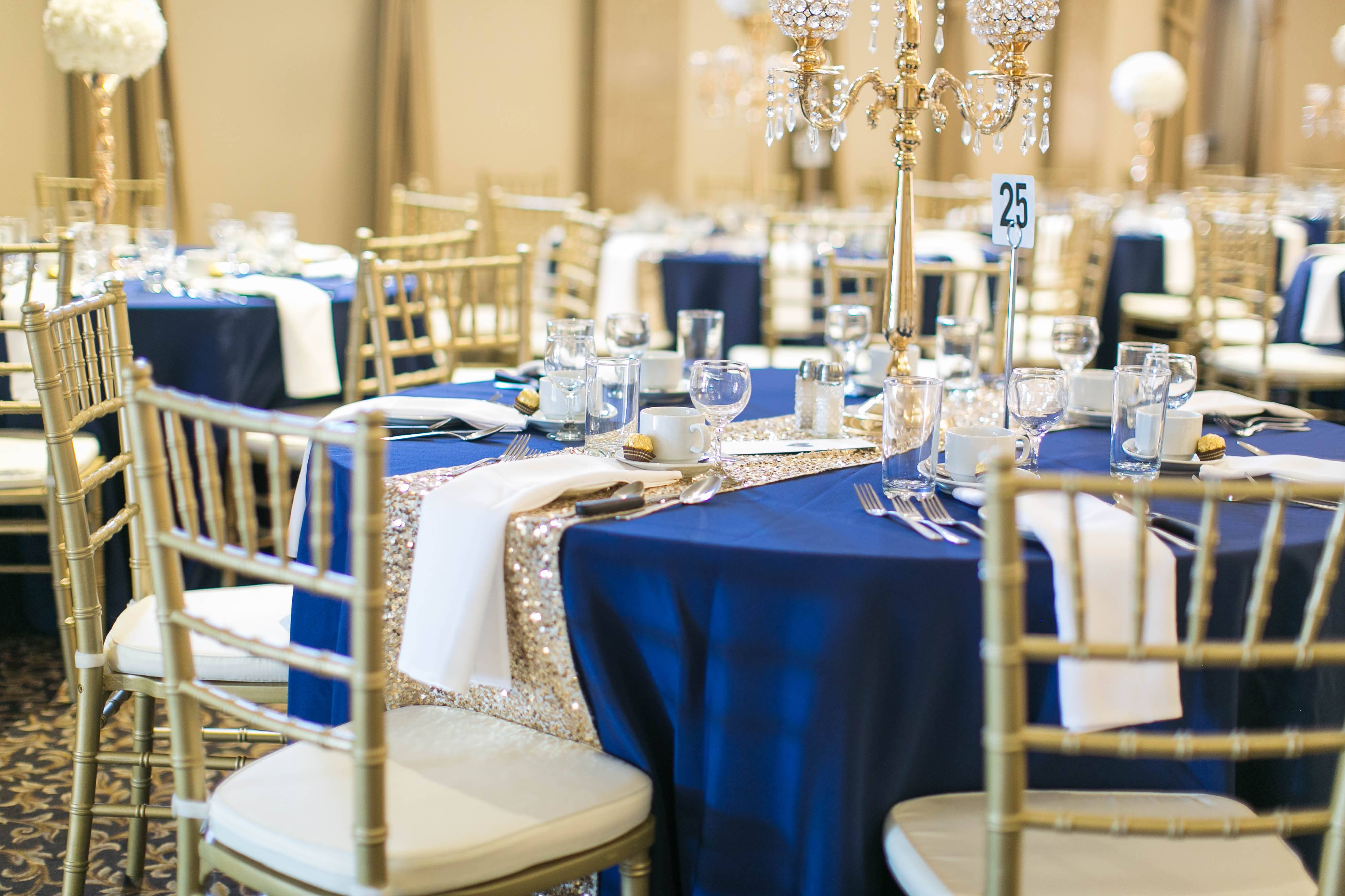 wedding decor royal gold kitchener waterloo cambridge table chair cambridge armenian hall