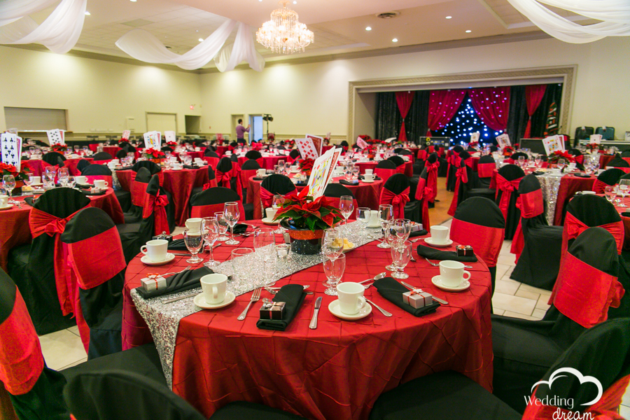 wedding decor kitchener waterloo croatian hall themed wedding red black magic
