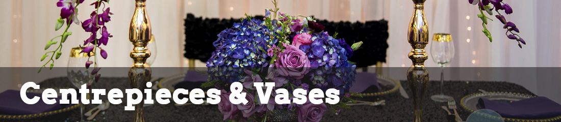 centrepieces and vases rentals